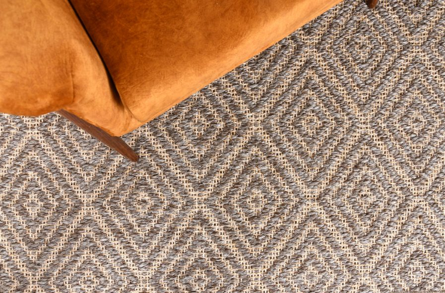 Buy DIAMOND TAUPE AND WHITE Rugs Online