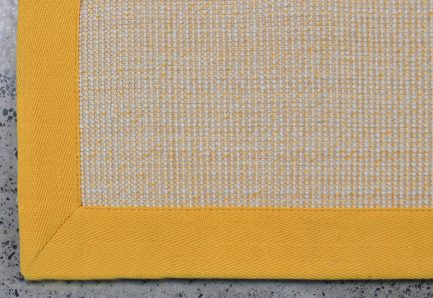 Buy BOUCLE WHITE WITH YELLOW Rugs Online