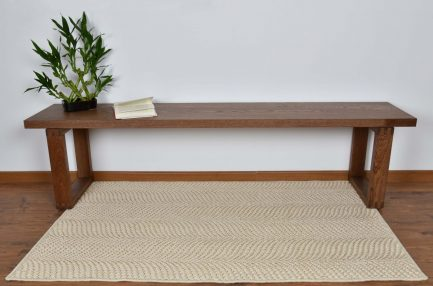 Buy FISHTAIL BLENDED WHITE Rugs Online in India