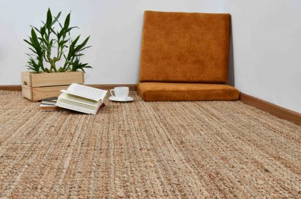 Buy HANDSPUN JUTE WHEAT Rugs Online in India
