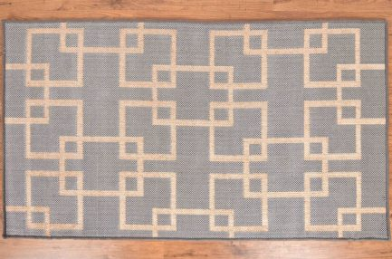 Buy GEOMETRIC LIGHT BLUE RUGS Online in India