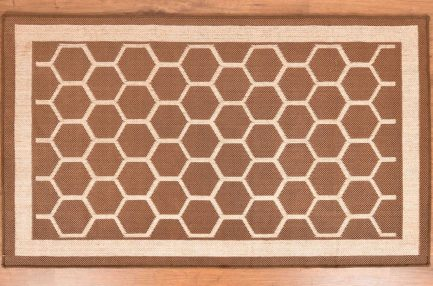 Buy HONEYCOMB BROWN RUGS Online in India